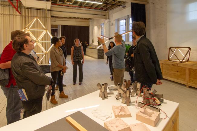 「紐約建築開放周」讓民眾有機會了解建築背後的獨特故事。圖為Stickbulb at Rux Studios。(David Hogarty攝影)