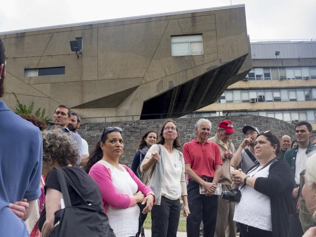 「紐約建築開放周」每年都吸引大批民眾參加。圖為Breuer Buildings。(Elizabeth Holmes攝影)