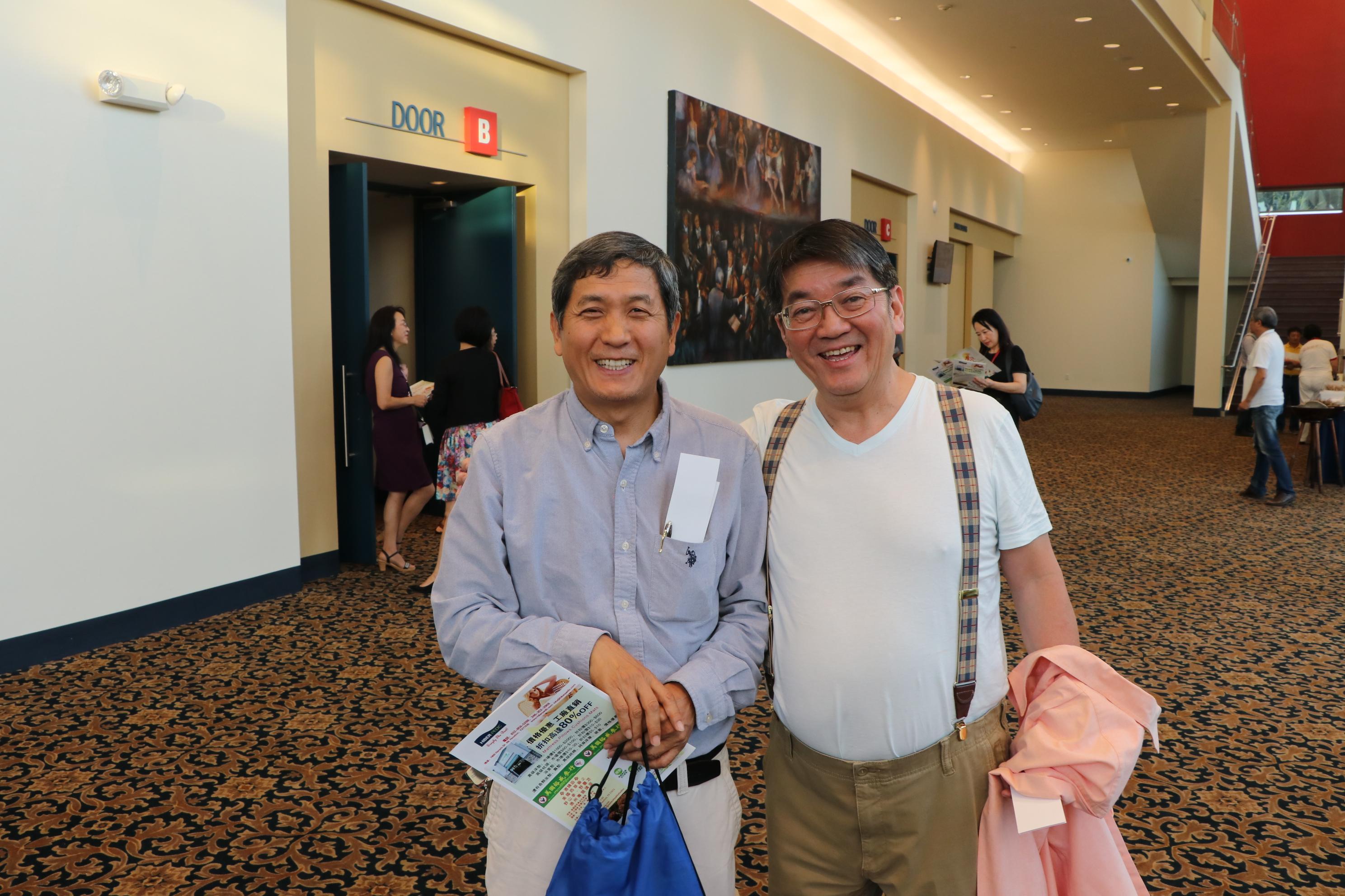 河南同鄉會會長楊德清(左)、理財專家蕭雲祥一同赴會。