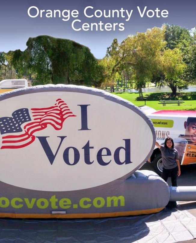 橙縣選舉投票新規則將設38個投票中心。(橙縣選舉網站截頻圖片)