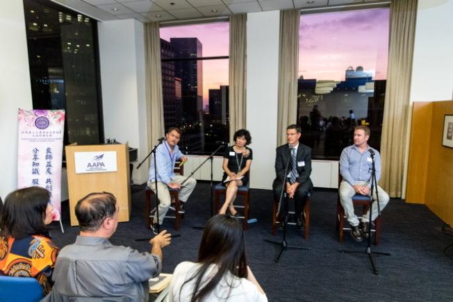 79 世界華人工商婦女企管協會大洛杉磯分會,日前和美國亞裔專業人士協會(AAPA)舉辦「在瘋狂的世界裡得勝」演講。(圖:主辦方提供)