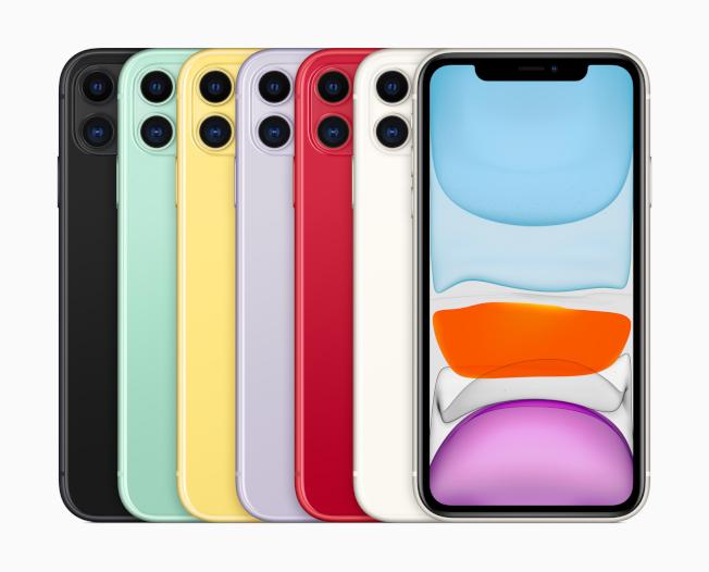 iPhone 11推出繽紛6色供消費者選擇。(取材自蘋果官網)