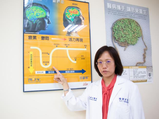 台灣東元綜合醫院精神科主任醫師楊錚宜表示,憂鬱症已被世界衛生組織列為21世紀人類的三大疾病之一,核心症狀是持續情緒低落、失去活力。(圖:東元醫院提供)