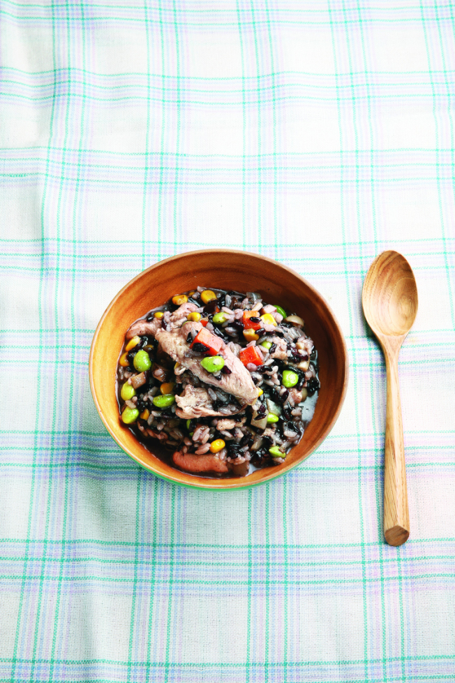 黑米野菇燉飯