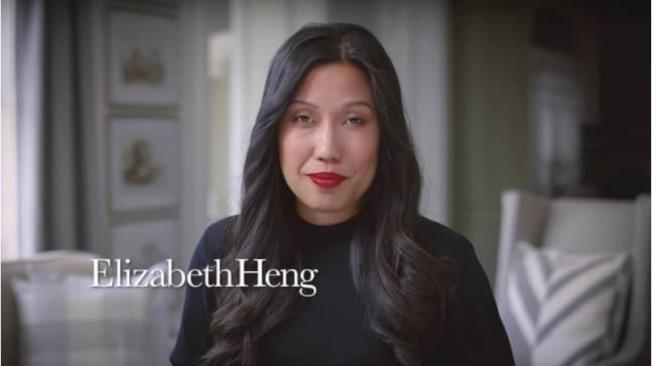 亞裔伊莉莎白・Heng在影片中旁白。(共和黨新面孔廣告片)