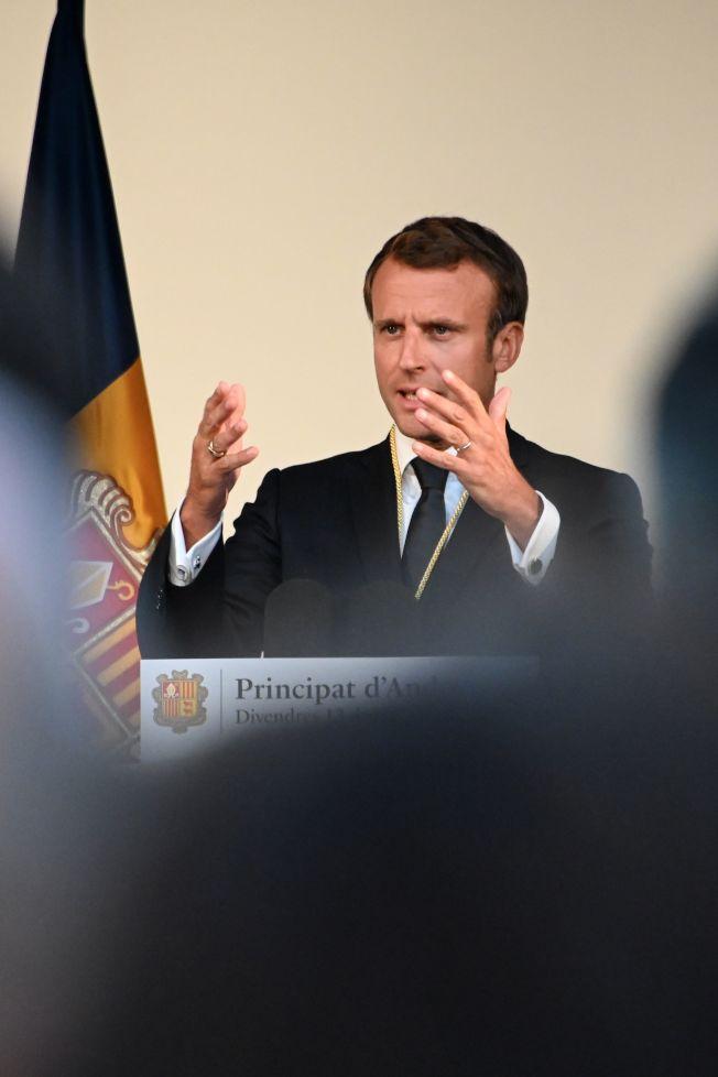 法國總統馬克宏推動年金改革,引發巴黎大眾運輸業人員13日罷工。(Getty  Images)