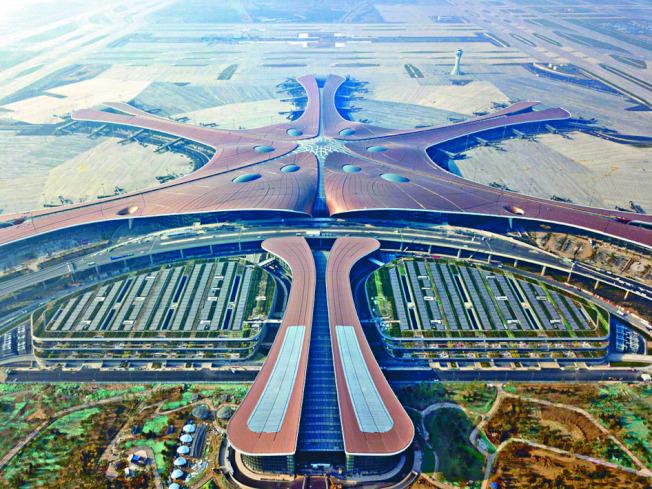 北京大興國際機場航廈是全球最大單體航廈。圖/香港星島日報