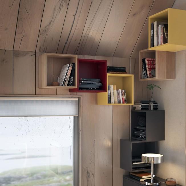 IKEA EKET上牆式收納櫃可以組合出無限可能,就連畸零空間也能發揮收納功能。圖/IKEA提供