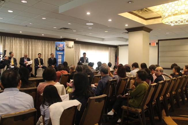 世界日報14日舉辦法律講座,吸引大批民眾參與。(記者賴蕙榆/攝影)