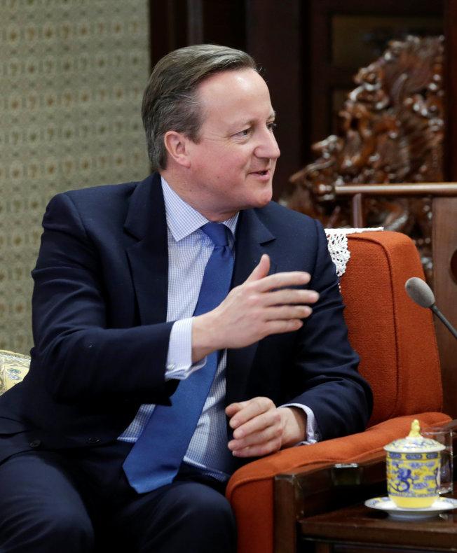 英國前首相卡麥隆認為,或許需要用二次公投來解決脫歐僵局。(路透資料照片)