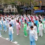 世界健身氣功日 300人華埠齊練功