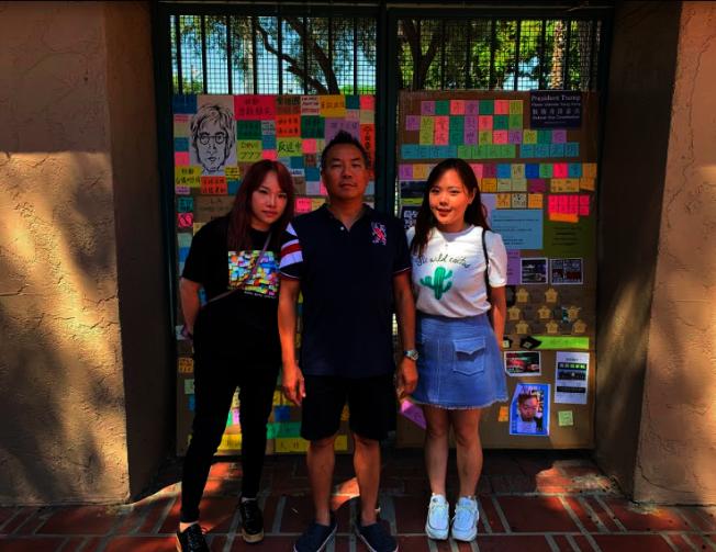 視覺藝術家協會舉辦香港民主論壇,(左起)Fion Chiu、羅家寶、陳煦晴。(記者張越/攝影)