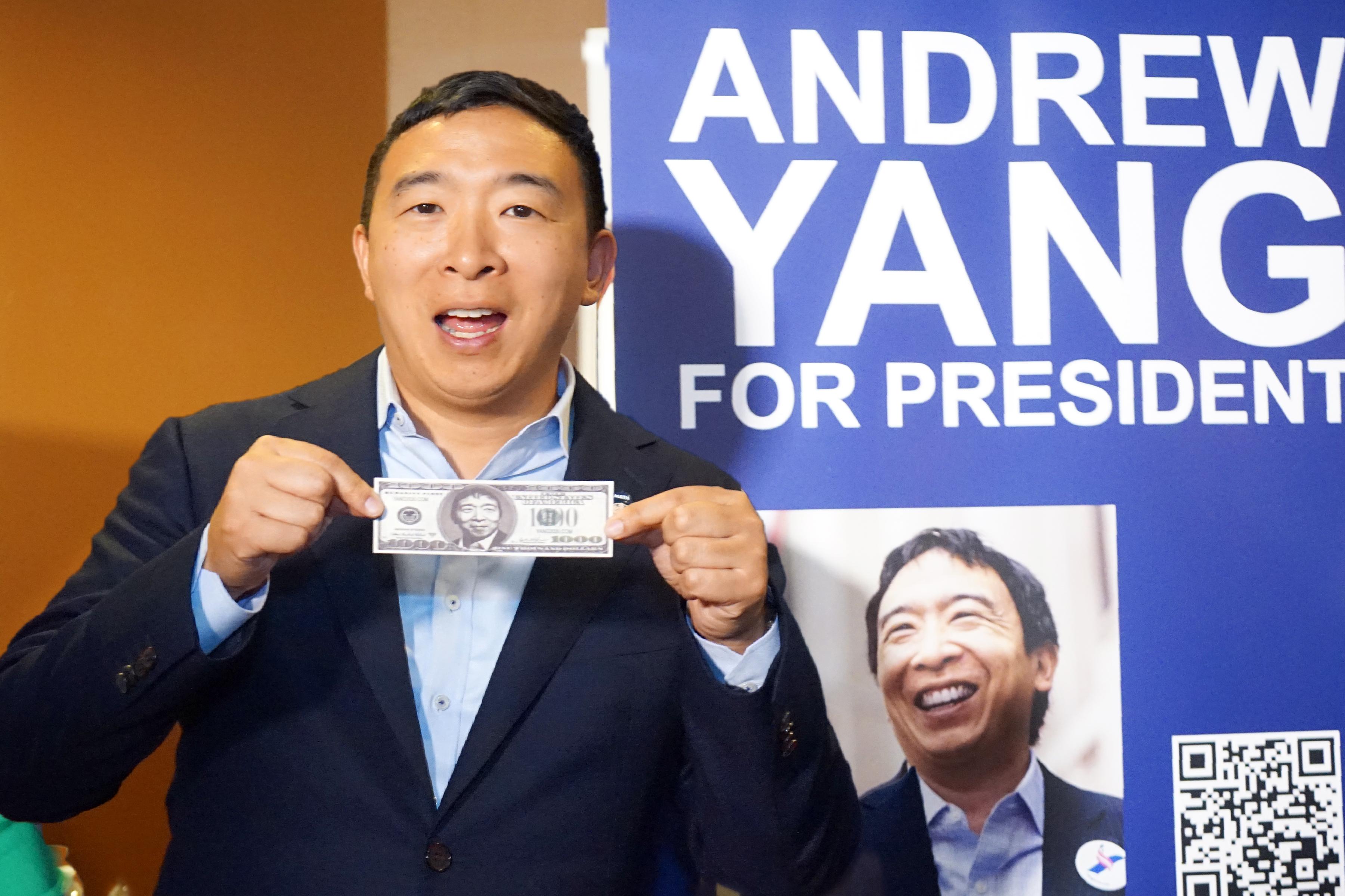 美國2020總統參選人楊安澤。(記者賈忠/攝影)