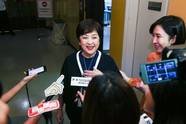 郭富城「舞林密碼」世界巡迴演唱會台北站Day 2,許多演藝界人士都到場,藝人甄珍(中) 到場。(記者曾原信/攝影)