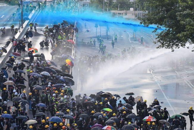 香港「反送中」運動持續受到國際關注。(Getty Images)