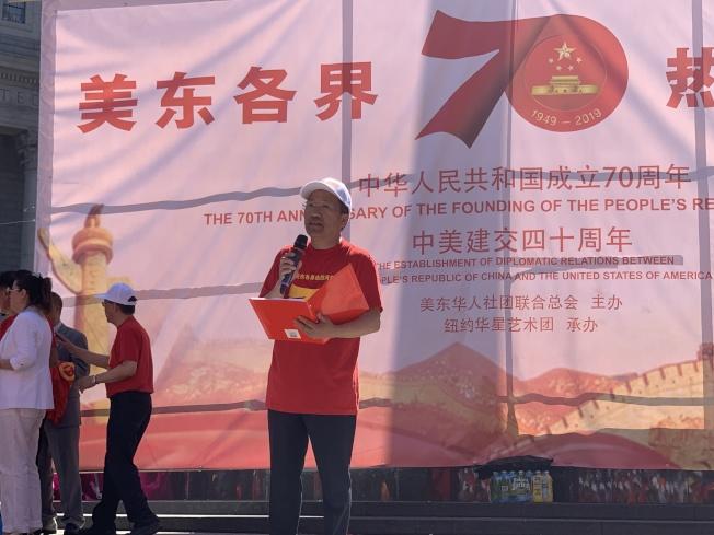梁冠军表示,海外华人华侨在中国发展的历程中发挥了独特作用。(记者和钊宇/摄影)