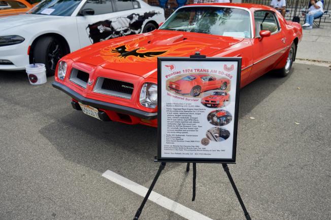 全球僅943輛的限量款Pontiac 1974 Trans AM SD-455。(記者陳開/攝影)