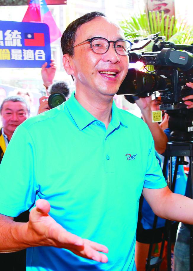 國民黨總統參選人韓國瑜15日低調拜會前主席朱立倫,「韓朱會」氣氛融洽。(本報資料照片)