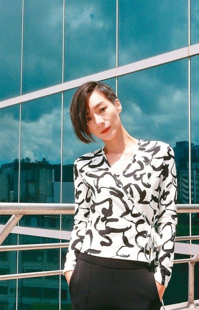 陽靚以「忘川」入圍金鐘迷你劇女主角。(記者鄭超文/攝影)