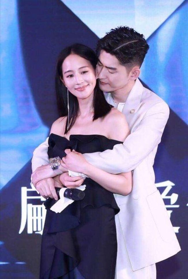張翰和張鈞甯的「親密」合照,其實是為了宣傳新劇。(取材自微博)