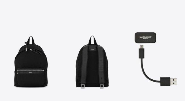 Google突然被發現悄悄與時尚品牌 Yves Saint Laurent 合作,推出一款內建 Project Jacquard 技術的背包。(網路圖片)