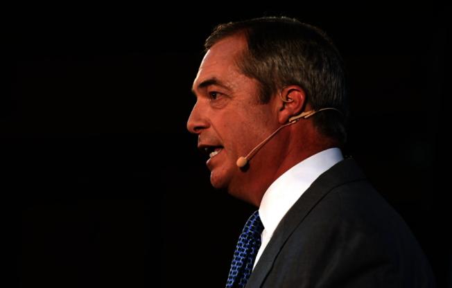 脫歐黨(Brexit Party)黨魁法拉吉(Nigel Farage)。 歐新社