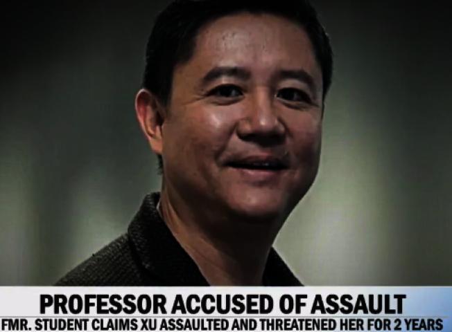 CBS電視「晨間」節目16日播出伊利諾大學香檳分校前華裔教授徐鋼(左)遭多名前中國女留學生指控長期性侵的悪行。(取自CBS Morning節目)