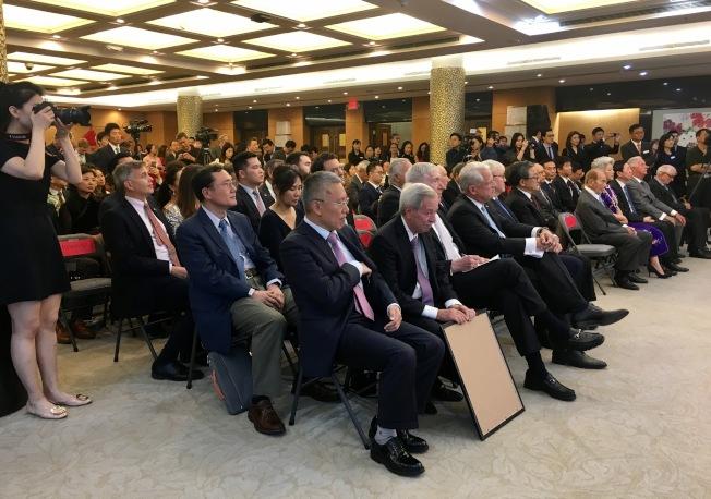 中國駐紐約總領事館16日晚舉辦2019年國慶招待會。(記者鄭怡嫣 / 攝影)