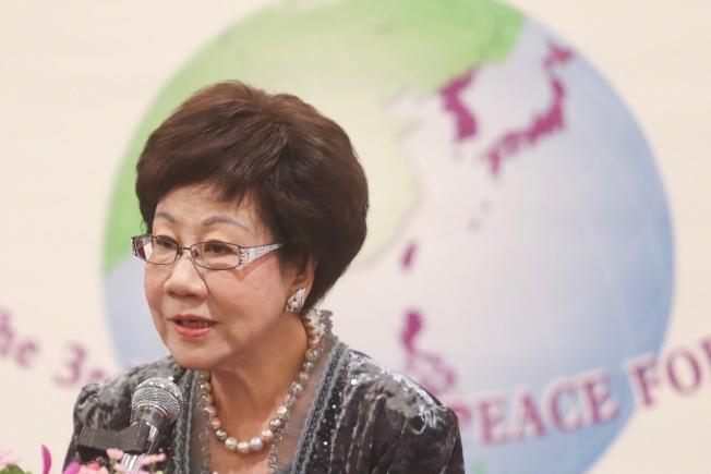 前副總統呂秀蓮。(中央社)