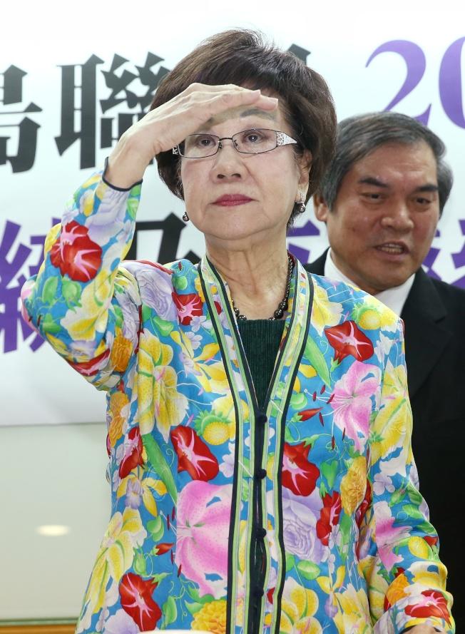 前副總統呂秀蓮決定接受喜樂島聯盟及其他政黨推薦,參選總統。(記者曾原信/攝影)