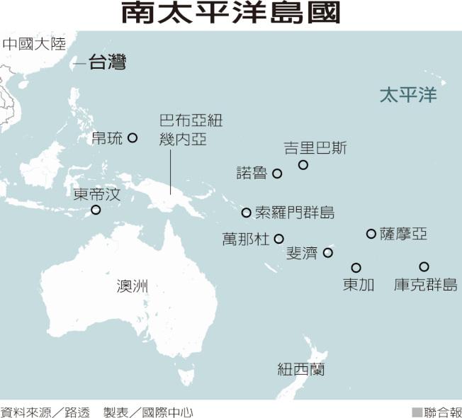 南太平洋島國。 資料來源/路透