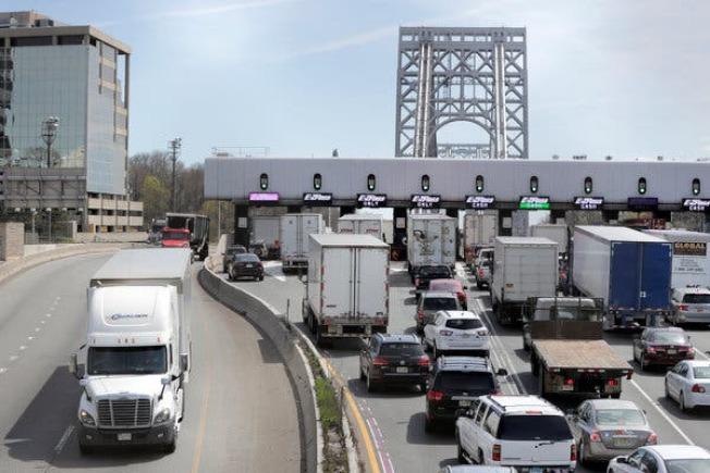 報告預計塞車費計畫將減輕林肯隧道等線路的交通壓力。(美聯社)