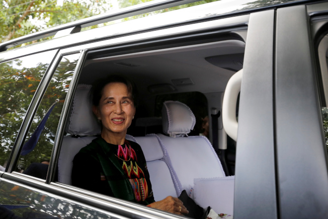 緬甸國務資政、諾貝爾和平獎得主翁山蘇姬在國際上不得人心。(路透)
