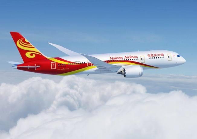 海南航空即日起每周提供兩班芝加哥往返成都班機。(Go Chengdu臉書截圖)