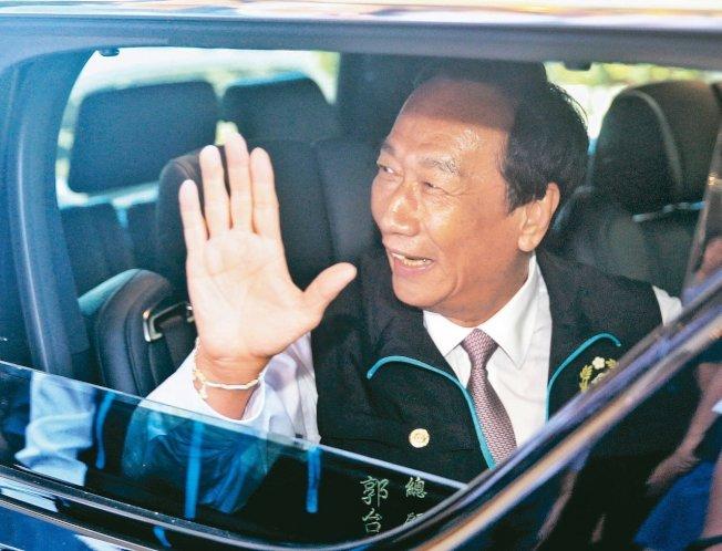 鴻海集團創辦人郭台銘拋出不參加2020總統大選連署後,鴻海集團17日市值合計蒸發近約台幣900億元。(本報資料照片)