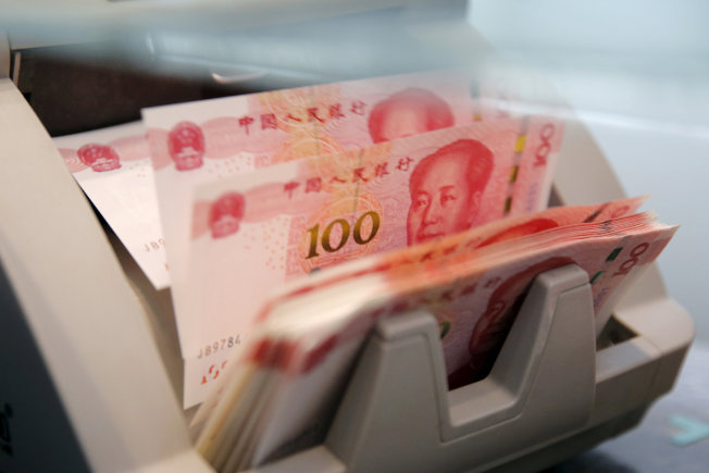人民幣今年4月全球外匯交易占比為4.3%,在所有貨幣中排名第八,顯示中國推動人民幣國際化的進程陷入停滯。(路透)