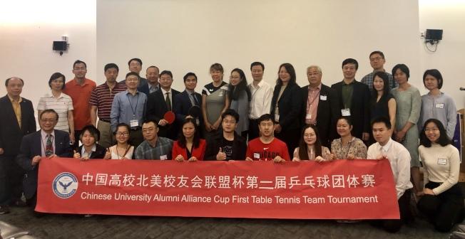 中國高校北美校友會聯盟將舉行聯盟杯乒乓球團體賽。(記者朱蕾/攝影)