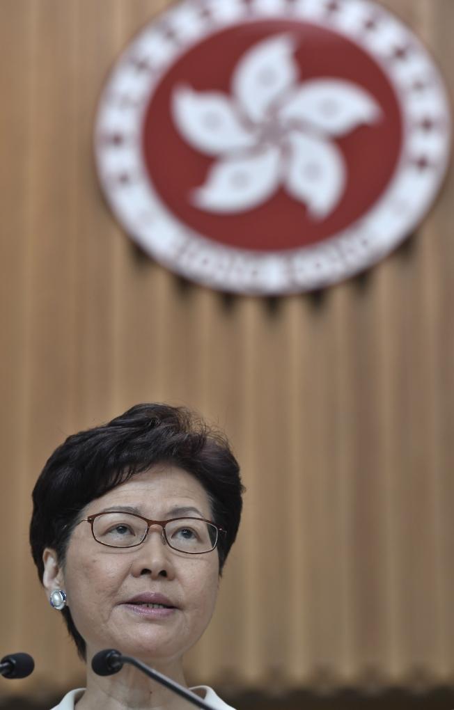 林鄭月娥17日表示下周將舉行首場與社區對話,希望幫香港走出困局。(中通社)