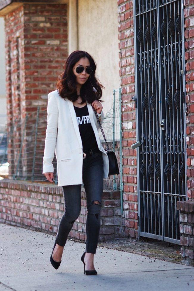 白色外套是Hallie最愛。(Hallie提供)