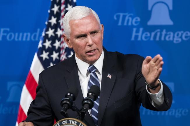 美國副總統潘斯稱,美國正與盟國評估反擊伊朗。(歐新社)