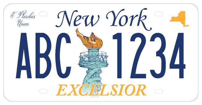紐約州新車牌的候選車牌之五。(州長辦公室提供)