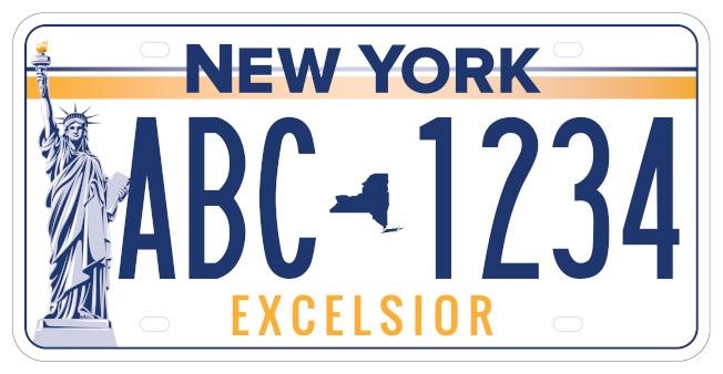 紐約州新車牌的候選車牌之二。(州長辦公室提供)