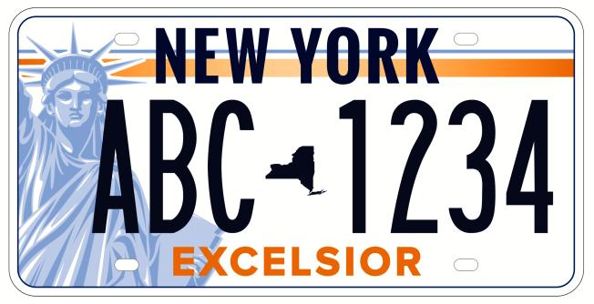 紐約州新車牌的候選車牌之三。(州長辦公室提供)