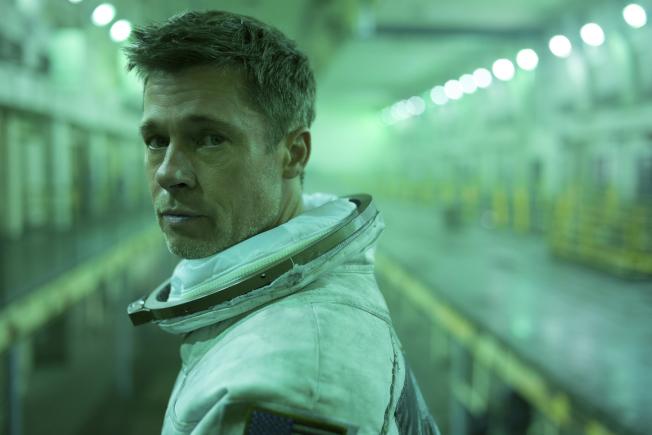 布萊德彼特在「星際救援」飾演太空人。(美聯社)