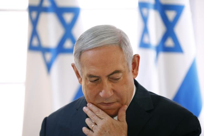 以色列總理內唐亞胡對大選結果感到失望。(美聯社)