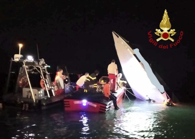 義大利消防人員與當地媒體報導指出,一艘高速快艇昨天晚間在威尼斯潟湖(Venetian Lagoon)撞上人工魚礁,導致船上3人不幸死亡。美聯社