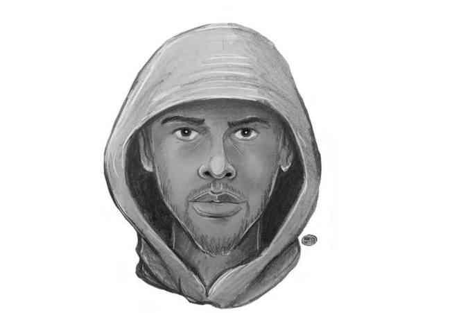 警方公布涉嫌企圖強姦的男子畫像,呼籲知情民眾提供線索。(市警提供)