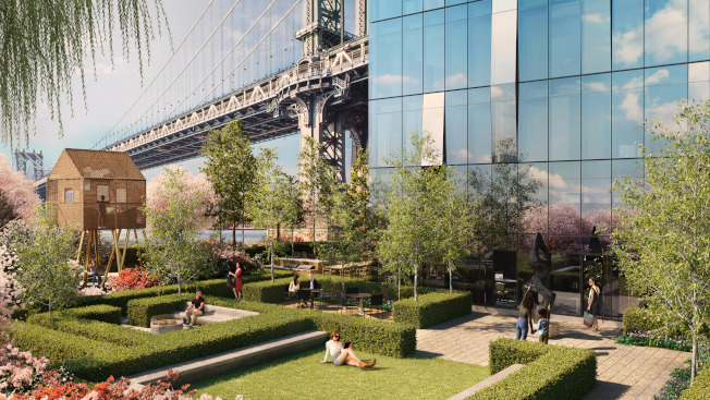曼哈頓廣場一號打造的綠洲。