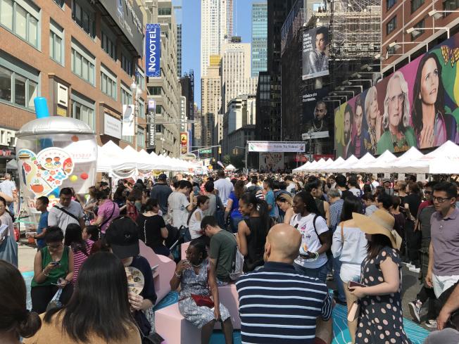 珍珠奶茶節首次在紐約登場,就吸引眾多紐約客。(本報資料照片)