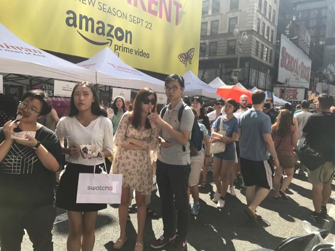 紐約珍珠奶茶節的排隊人潮。(本報資料照片)
